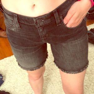 Black Bermuda shorts